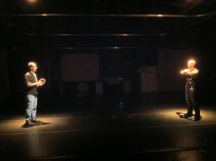 "Rehearsing the scene ""Playing Catch"" (Jon Osbeck & Rick Napoli)"